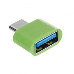 Adaptor OTG, USB tip C to USB 3.0, (Type C to USB), Verde