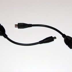 Cablu OTG Micro USB pentru tablete si telefoane - Negru