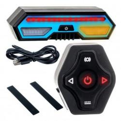 Lumini stop si semnalizare pentru bicicleta, MT Malatec, reincarcabila micro USB, telecomanda, IPX4