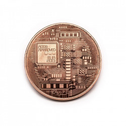 Moneda Suvenir Bitcoin Copper, mjb 2013