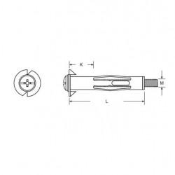 Set 25 ancore pentru Gips-Carton/Rigips, 4 x 32 mm, zincate