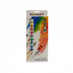 Set pictura Pincello, 12 vopsele Acrilice de 12 x 12 ml