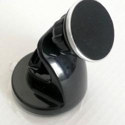 Suport auto magnetic cu ventuza, fixare pe parbriz, negru