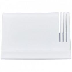 Suport de birou pentru tablete si telefoane cu orificii pentru papetarie, Alb