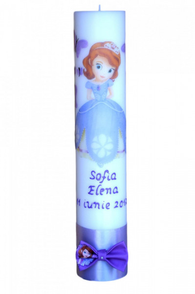 Lumânare botez Prințesa Sofia 2