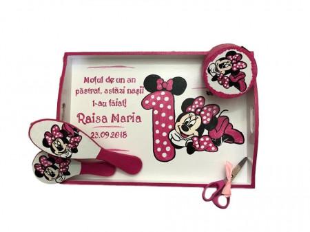Set pentru tăierea moțului pictat Baby Minnie Mouse