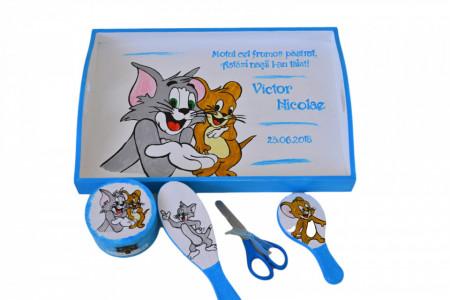 Set pentru tăierea moțului pictat cu Tom și Jerry