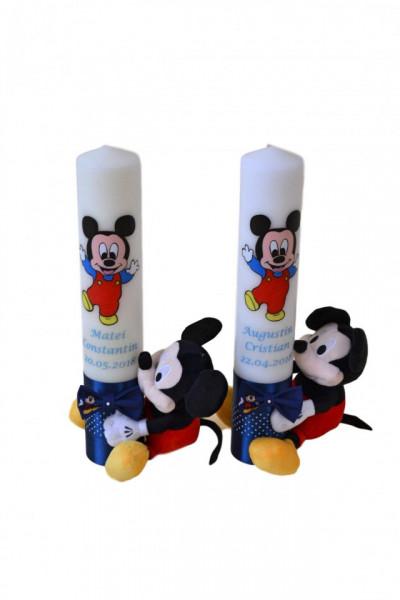 Lumânare botez Baby Mickey Mouse cu jucărie