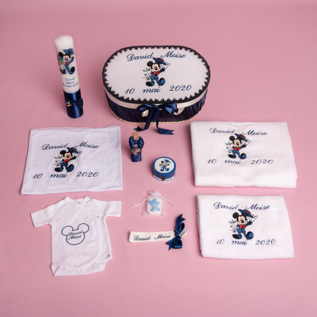 Trusou botez complet Mickey Mouse bleumarin