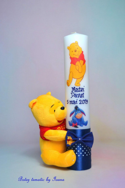 Lumânare botez Winnie the Pooh și prietenii