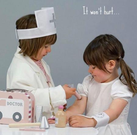 Trusa medicala pentru copii- albastră