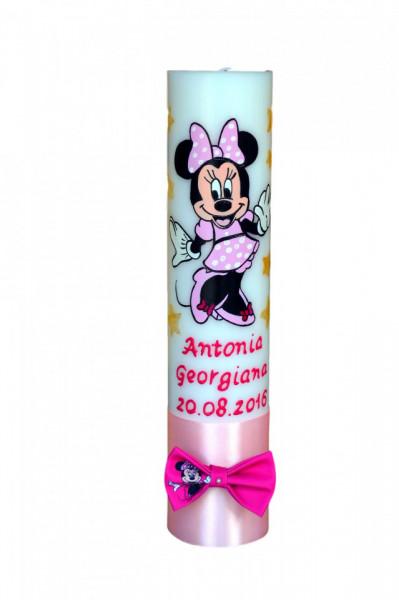 Lumânare botez pictată cu Minnie Mouse