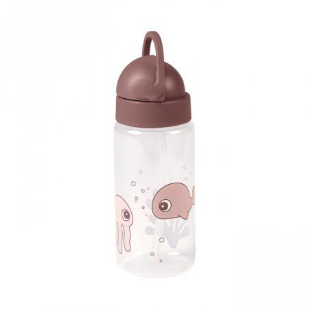 Sticlă pentru apă 350 ml roz Sea - Done by Deer