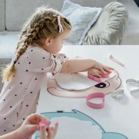 Protecție masă din silicon roz