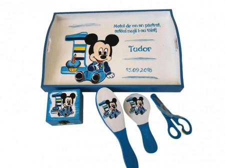Set pentru tăierea moțului pictat cu Mickey Mouse