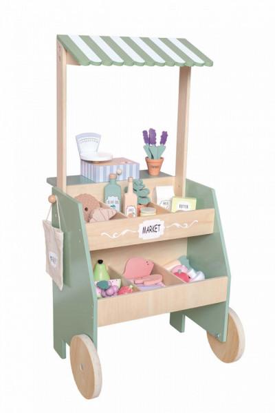 Stand de piață pentru copii din lemn- JaBaDaBaDo