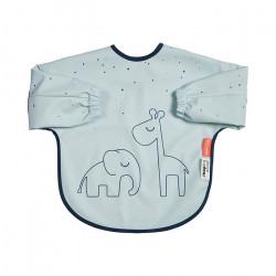 Bavețică cu mâneci lungi Dreamy Dots albastră- Done by Deer
