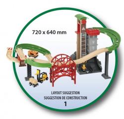 Set trenuleț din lemn cu lift 32 piese - BRIO