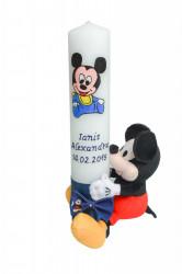 Lumânare botez Baby Mickey Mouse cu jucărie 2