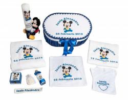 Trusou botez Baby Mickey albastru royal