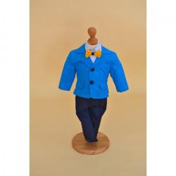 Costum Botez Matei albastru