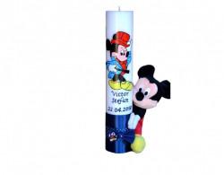 Lumânare botez Mickey Mouse cu jucărie
