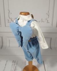 Costum Botez Baieti cu aripi de îngeras Billy