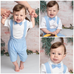 Costum Botez Tudor Baby Blue