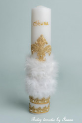 Lumânare botez royal
