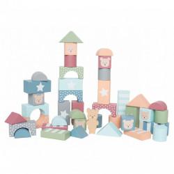 Cuburi de construcție din lemn Teddy- JaBaDaBaDo