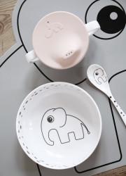 Set de masă First Meal, roz pudră - Done by Deer