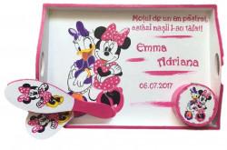 Set pentru tăierea moțului pictat Minnie Mouse și Daisy Duck
