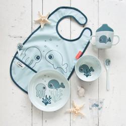 Bavețică din poliester Sea Friends albastră - Done by Deer