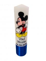 Lumânare botez pictată cu Mickey Mouse 1