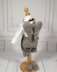 Costum Botez Baieti cu aripi de îngeras Charles