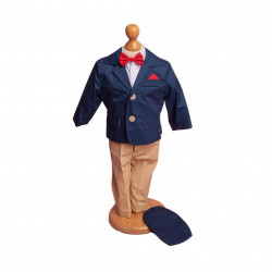 Costum Botez Matei Bleumarin