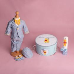 Trusou botez complet Winnie the Pooh bleu