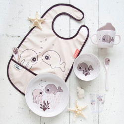 Bavețică din poliester Sea Friends roz - Done by Deer