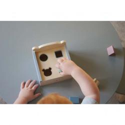 Jucărie din lemn de sortat Teddy- JaBaDaBaDo