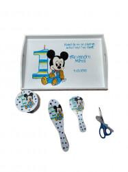 Set pentru tăierea moțului pictat Baby Mickey