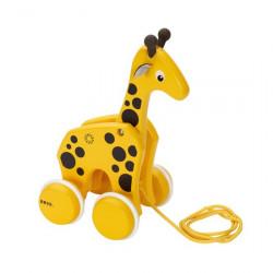 Jucărie de tras din lemn Girafă - BRIO