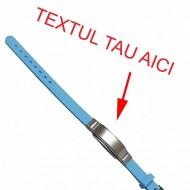 Bratara bleo silicon ajustabila gravata personalizata cu textul tau