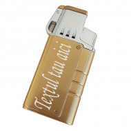 Bricheta metalica antivant personalizata text sau logo g4