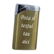Bricheta personalizata aurie antivant gravata cu poza si textul tau e5