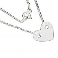 Lantisor argint 925 cu inima