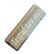 Bricheta metalica antivant personalizata text sau logo g3