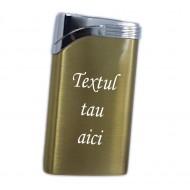 Bricheta personalizata aurie antivant gravata cu textul tau e5