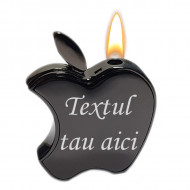 Bricheta apple personalizata gravata cu textul tau e4
