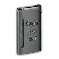 Bricheta personalizata antivant neagra gravata cu textul tau