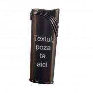 Bricheta metalica neagra antivant personalizata poza si text sau logo